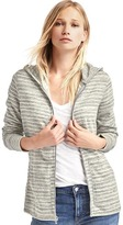 Gap Stripe long zip hoodie