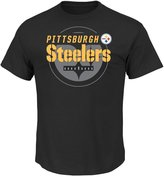 "Majestic Pittsburgh Steelers NFL ""Of Great Value"" Men's Short Sleeve T-Shirt"