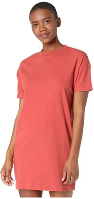 The North Face Woodside Hemp Tee Dress (Shady Blue) Women's Clothing