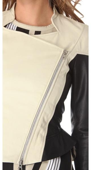 Ohne Titel Washed Leather Zip Jacket