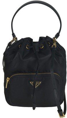 Prada Front Pocket Bucket Bag