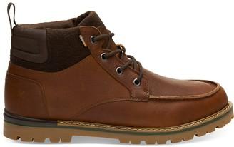 Toms Waterproof Peanut Brown Leather Men's Hawthorne Boots