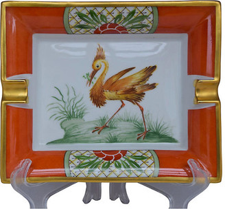 One Kings Lane Vintage Hermes Exotic Bird Cigar Ashtray - The Montecito Collection