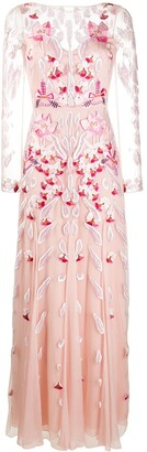 Temperley London Pardus floral embroidery gown