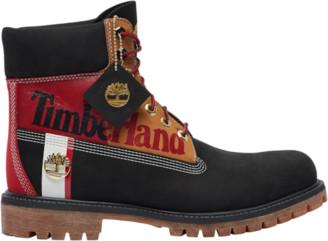 """Timberland 6"""" Premium Waterproof Boots Outdoor Boots - Black Nubuck"""