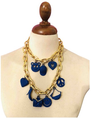 Moschino Gold Metal Necklaces