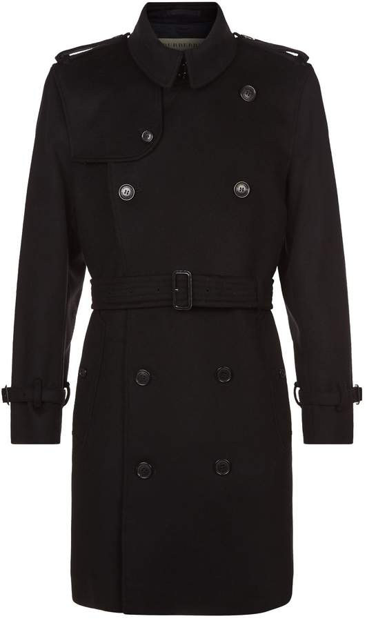 Burberry Wool Kensington Trench Coat