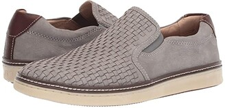 Johnston & Murphy McGuffey Woven Casual Slip-On Sneaker (Tan Full Grain) Men's Slip on Shoes