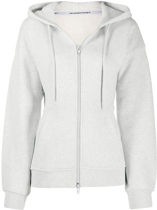 Alexander Wang Fitted-Waist Zip-Up Hoodie