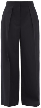 The Row Avril Single-pleat Water-repellent Wool Trousers - Navy