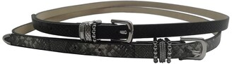 Linea Pelle Metal Keeper Belts - Set of 2
