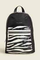 CONTEMPORARY Sequin Zebra Biker Backpack