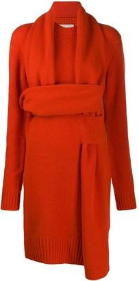 Bottega Veneta Intrecciato Weave Knitted Dress