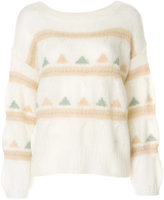 Closed intarsia knit jumper