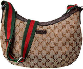 Gucci Brown Gg Canvas & Leather Round Messenger Bag