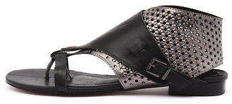 Django & Juliette New Prickles Black Pewter Womens Shoes Casual