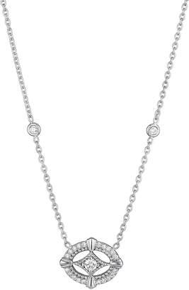 Penny Preville Horizontal Oval Diamond Pendant Necklace, 0.28 tcw