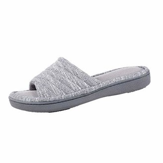 Isotoner Womens Space Knit Andrea Slide Slippers