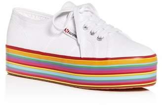 Superga Women's Cotu Classic Low-Top Striped Platform Sneakers