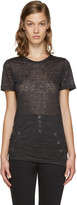 Isabel Marant Black Madras T-shirt