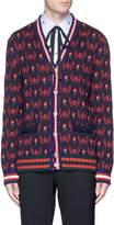 Gucci Flying skull intarsia wool-cotton cardigan
