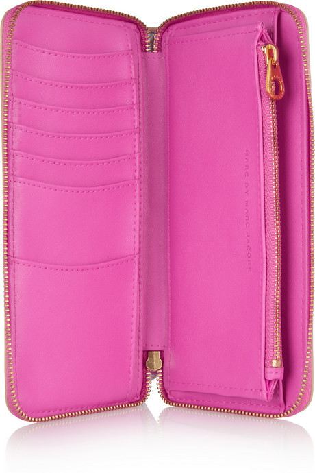 Marc by Marc Jacobs Slim Zippy faux patent-leather wallet