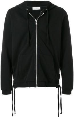 Faith Connexion Lace-Up Side Detail Zipped Front Hoodie