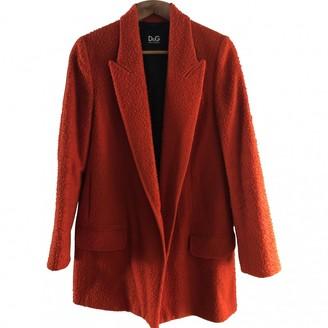 Dolce & Gabbana Orange Wool Coat for Women