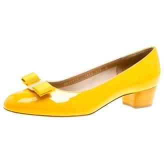 Salvatore Ferragamo Yellow Leather Heels
