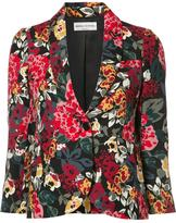Sonia Rykiel floral print blazer - women - Cupro/Viscose - 40