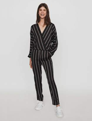 Maje Jumpsuit with pinstripes