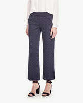 Ann Taylor The Wide Leg Crop Pant in Dot Jacquard