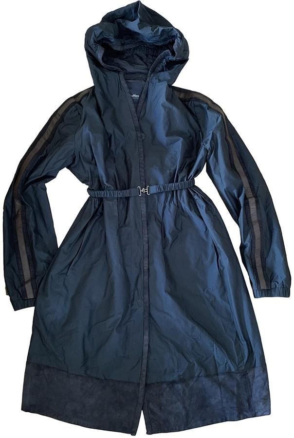 Max Mara 's Navy Trench Coat for Women