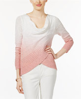 INC International Concepts Dip-Dye Crossover Top, Only at Macy's