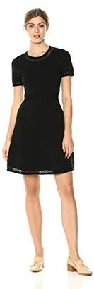 Cable Stitch Women's Fit-and-Flare Knit Dress