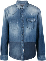 7 For All Mankind patchwork denim shirt