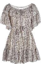 Zimmermann Silk Flutter Sleeve Floral Dress