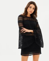 Shona Joy Aruba Flared Sleeve Shift Dress
