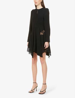 Stella McCartney Celeste lace crepe mini dress