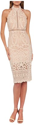 Bardot Hana Lace Dress (Pink Rose) Women's Clothing