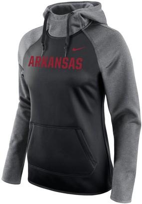 Nike Women's Black Arkansas Razorbacks All Time Raglan Sleeve Pullover Performance Hoodie