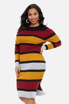 Fashion to Figure Elisa Striped Midi Sweater Dress