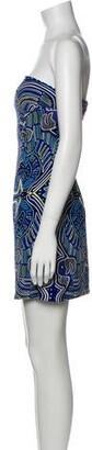 Mara Hoffman Printed Mini Dress w/ Tags Blue