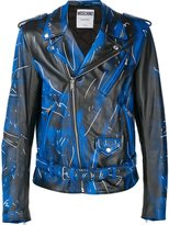Moschino trompe-l'oeil biker jacket - men - Calf Leather - 54