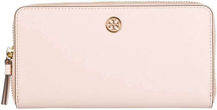 Tory Burch Wallet Genuine Leather Coin Case Holder Purse Card Bifold Robinson