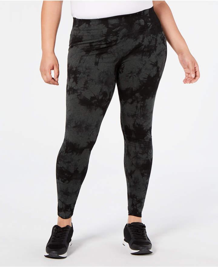 Calvin Klein Plus Size Tie-Dyed High-Waist Leggings