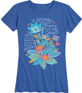 Instant Message Women's Women's Tee Shirts HEATHER - Heather Royal Blue 'Speaking Kindly to Plants' Relaxed-Fit Tee - Women