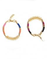 Celine H2o Golden Brass and Multicolored Cord Sparks & Bloom Bracelets