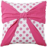 Bed Bath & Beyond Amanda Bow Square Throw Pillow in Pink