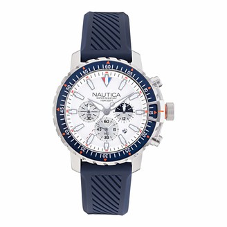 Nautica Men's Stainless Steel Quartz Fabric Strap